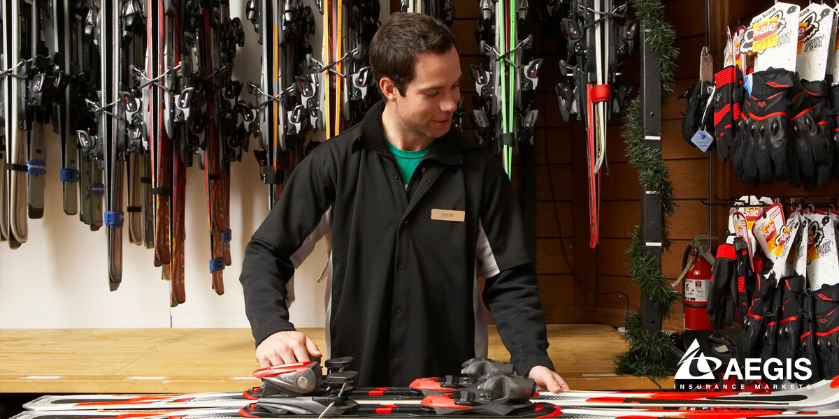 Happy Ski Shop Owner