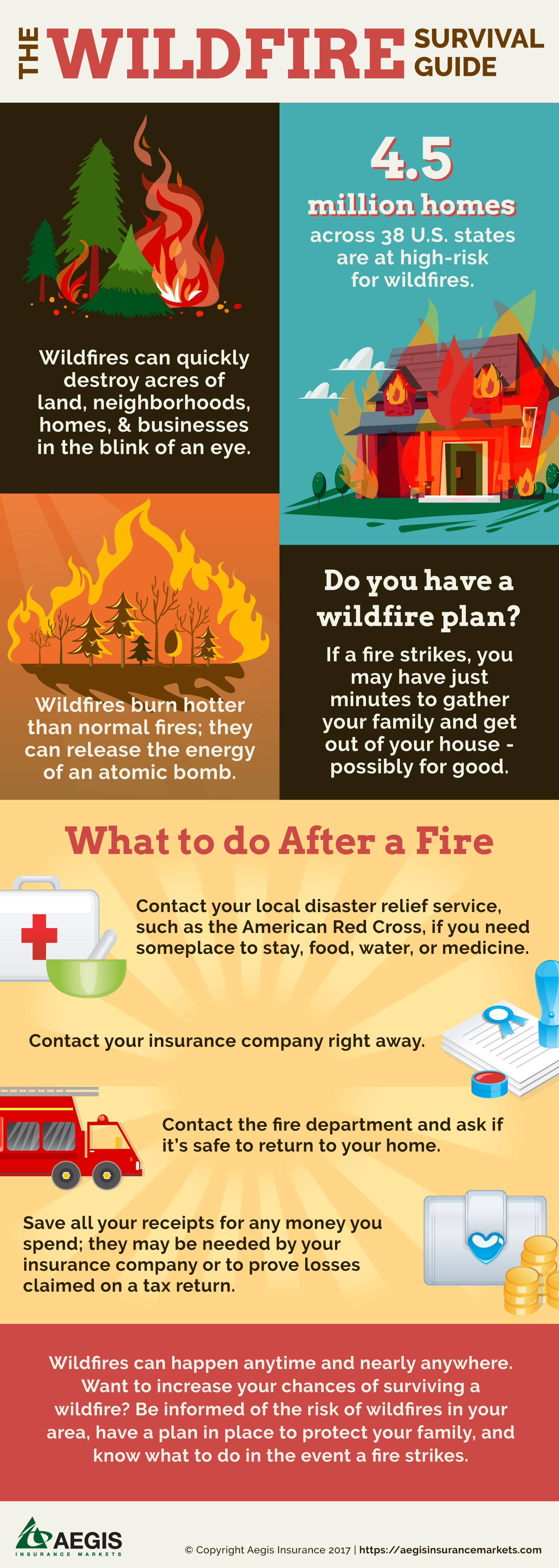 Wildfire Survival Guide Infographic