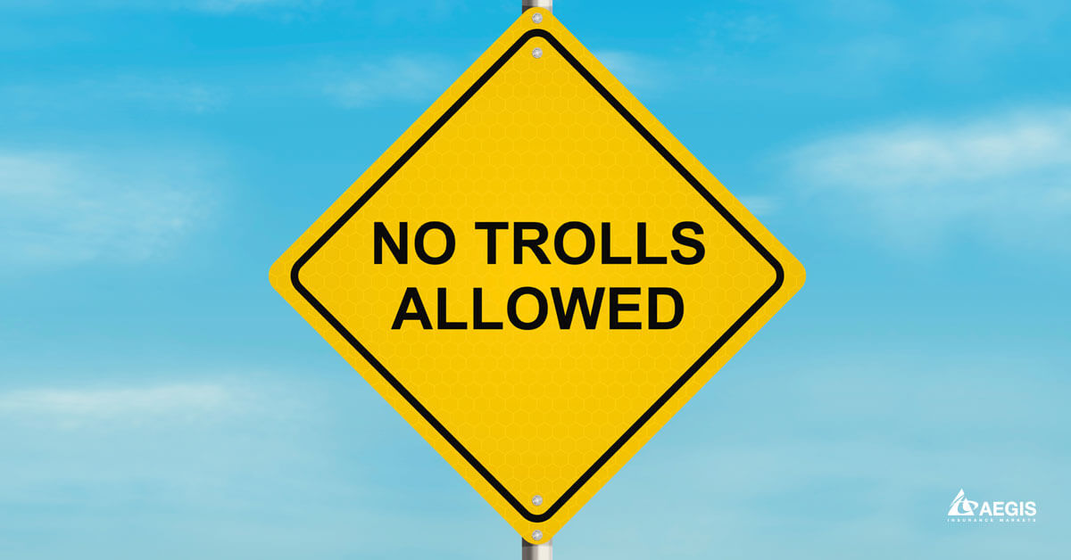 No Trolls Allowed Sign